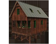 plány-na-chatu-se-sedlovou-střechou