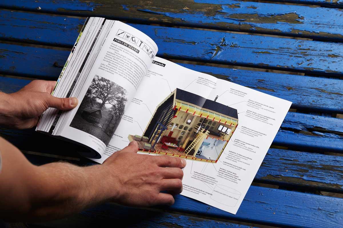 """Spoustu cenných rad při stavbě domku naleznete v naší knize """"Jak postavit malý dům""""."""